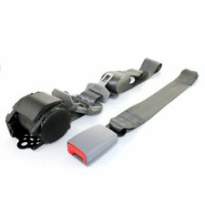 1Kit 3 Point-fixed Auto Truck Grey 3pt Harness Safety Belt Seat Belt Universal