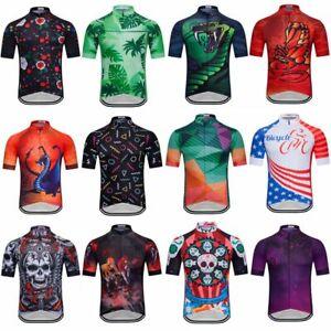 Men's Cycling Jersey Clothing Bicycle Sportswear Short Sleeve Bike Shirt J121