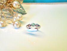 ♥ Juwelo Silberring Mint Fluor-Apatit Ring 925 Sterling Silber  Zertifikat  Neu