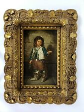 Antique Oil Painting Old Masters Late 1800s Portrait Painting by Leopoldo Dumini