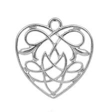 4 Celtic knot charms antique silver tone R87