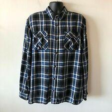 Vans Van Doren Collection Plaid Check Flannel Shirt Button Front Men's XL