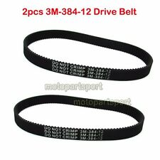 2x 3M-384-12 Drive Belt For Pulse Revolution Slither City Skull Electric Scooter