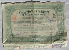 BRESIL OBLIGATION DE 500 Francs 1913  CREDIT FONCIER  action titre bond Brazil