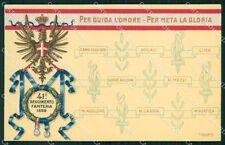 Militari Reggimentali 41º Reggimento Fanteria cartolina XF4907
