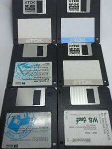 TDK MF-2HD IBM/DOS Formatted Diskettes (Used) 5pcs