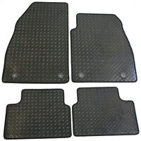 Vauxhall Insignia 2008-2013 Fully Tailored 4 Piece Rubber Car Mat Set 4 Clips