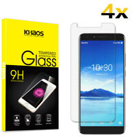 4-Pack Khaos For Alcatel 7 Folio 6062W Tempered Glass Screen Protector