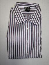 $92.50 Jos A Bank Traveler dress shirt w/ stripe pattern 16 - 34 classic fit