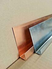 1m Ortgangblech Ortgangbrettverkleidung Ortgangblende Zink/Titanzink oder Kupfer