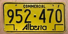 """ALBERTA  CANADA  COMMERCIAL  LICENSE PLATE """" 952 470 """" AB CAN"""