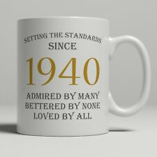 80th birthday present gift born 1940 mug idea men women ladies dad mum happy 80
