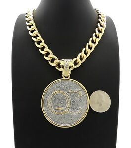 """NEW ICED QC PENDANT WITH 20"""" 11mm CUBAN CHAIN"""