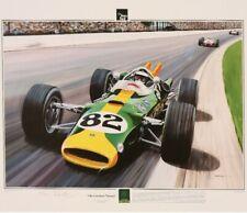 Two Prints- Jim Clark, Lotus 38 Indy 500 & Lotus 33 Climax ,British Grand Prix