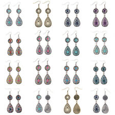 8 Pairs/Lot Vintage Bohemian Boho Multioolor Drip Colorful Dangle Women Earrings