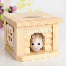 Toy Wooden Hamster House Rat Mouse Non-toxic Exercise Natural Funny 10.5x9cm