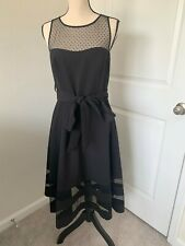 Eliza J Women's Black Mesh Detail Dress Size 10 NEW
