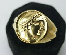 Ancient Bronze Ring-Vintage-Antique ROMAN-RARE Hermes Merqurivm Gold Plated