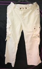 Hilfiger Vintage Streetwear Tommy Jeans Snap Buckle Wide Leg Cream Rave Pants