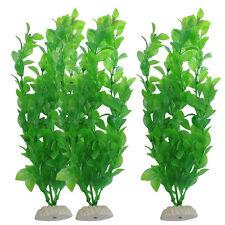 3Pcs Aquarium Decor Green Artificial Grass Plastic Plant Fish Tank Ornament