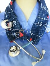 EKG ECG STETHOSCOPE COVER OR STETHOSCOPE SOCK HEARTBEAT QRS COMPLEX