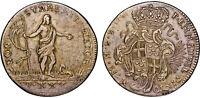 Order of Malta Emmanuel Pinto 30 Tari 1757 RS66 VF+ Coin KM# A256 Scarce