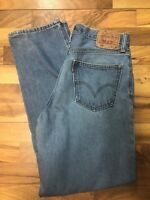 Levi's 560 Jeans Mens 32 X 34 Light Blue Comfort Tapered Vintage Free Shipping