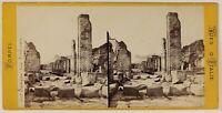 Pompei Italia Foto Stereo PL53L3n48 Vintage Albumina c1870