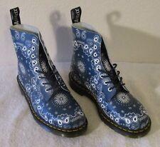 NEW Dr Martens Pascal Bandana Mens 8-Eye Boots 11 Navy/White MSRP$140