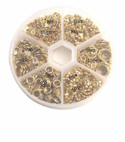 360PCS/Box Mixed Lots of Antiqued Gold Metal Bead Caps For Jewelry Making