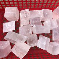 Top! Natural iceland spar crystal mineral Teaching specimen 1PC 100g+
