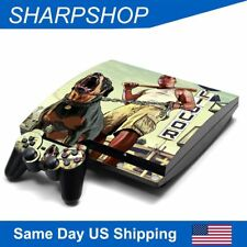Vinyl Skin Set Decals for Playstation 3 Slim Console & Controller PS3 Stickers