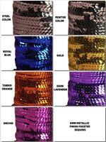 6MM Metallic Finish FACETED Round SEQUINS pre-strung Trim Choose Color & Yardage
