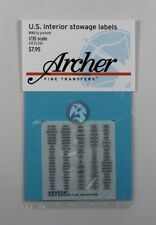 Archer 1/35 US Interior Stowage Labels (for US Vehicles WWII to present) AR35361