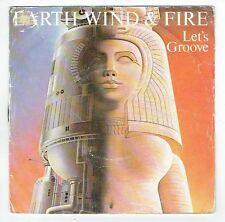 "EARTH WIND & FIRE Vinyl 45T SP 7"" LET'S GROOVE Pharaon CBS 1679 Frais Reduit"