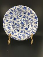 Ascot Coupe Cereal Bowl Rosebud Chintz Blue by SPODE Blue White Floral England