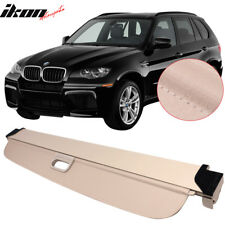 Fits 07-13 BMW X5 Tonneau Cover Beige Rear Cargo Cover Retractable - PU Leather
