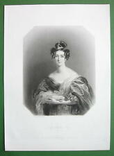QUEEN VICTORIA'S Court Beauty Lady Emily Foley - SUPERB Antique Print