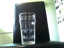 Batman Engraved Etched Pint Beer  Glass