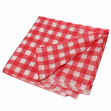 Gingham Plastic Temporary Disposable Check Table Cover Cloth Outdoor Picnic