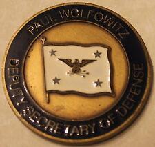 Paul Wolfowitz Deputy Secretary of Defense SECDEF DOD Challenge Coin