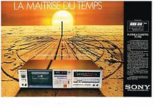 Publicité Advertising 1981 (2 pages) La Platine à cassettes TC-FX6 Sony