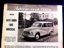 AUTO UNION 1000 UNIVERSAL -1961 - Road Test removed from AUTOCAR