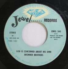 Black Gospel Soul 45 Bronner Brothers - God Is Concerned About His Own / Hold On