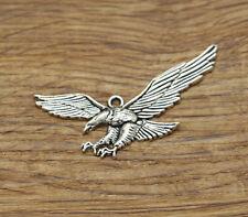 30 Pelican Charm Seabird Ocean Bird Beach Florida Charm Antique Silver 11x18x6