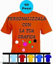 60 Magliette T-shirt Arancione Personalizzate con le vostre scritte loghi foto.