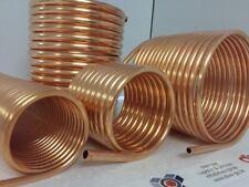 Spirale aus Kupferrohr 12x1mm  für OFENROHR 200mm aus 10m mit Innen-Ø ca.205mm