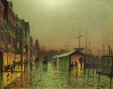 Grimshaw Atkinson John Liverpool Docks Print 11 x 14 #3633