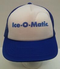 Vintage Ice-O-Matic Blue Rope Front Snapback Trucker Hat Cap Mesh Back Youngan