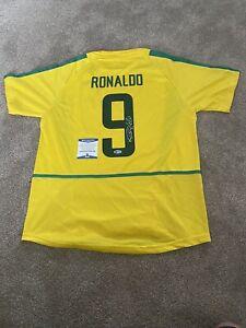 Ronaldo Signed Brazil Shirt With Beckett COA R9